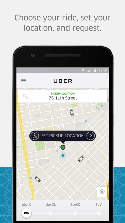 Uber mobile screenshot