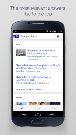 Yahoo Search mobile screenshot