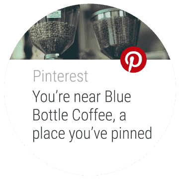 Pinterest wearable screenshot