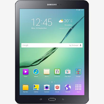 The Galaxy Tab S2 8.0 front view