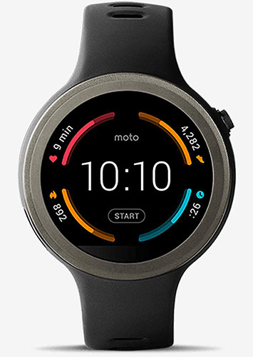 Moto 360 Sport front view
